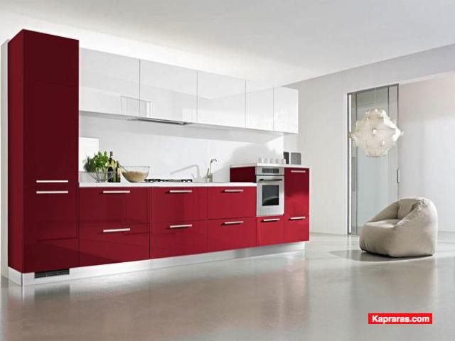 cucine moderne rosse e bianche  canlic for ., Disegni interni